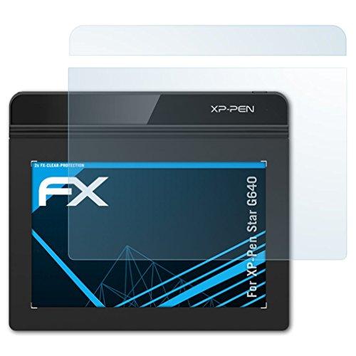 atFolix Schutzfolie kompatibel mit XP-Pen Star G640 Folie, ultraklare FX Displayschutzfolie (2er Set)