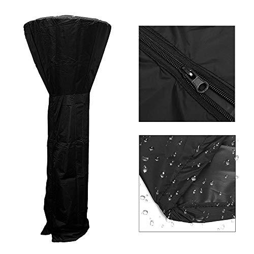 Volwco Abdeckung für Terrassenstrahler, Abdeckung für elektrische Heizungen, strapazierfähiges und wasserdichtes Oxford-Gewebe für den Außenbereich, schwarz, 85 x 221 cm
