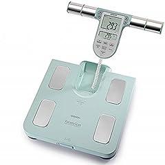 Omron skali analizy całego ciała BF511 z pomiarem stóp do stóp, turkus – mierzy tkanki tłuszczowej, waga, tłuszcz trzewny, masy mięśni szkieletowych, podstawowy obrót kalorii i BMI