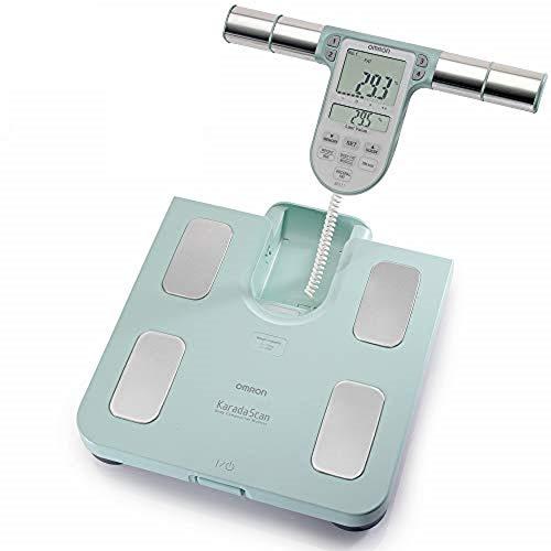 OMRON Körperanalysegerät BF511, klinisch validiert, mit 8 hochpräzisen Sensoren zur Messung an Händen und Füßen – türkis