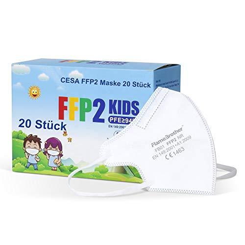 CESA Kinder FFP2 20 Stück Maske Mundschutz CE zertifiziert Atemschutzmaske Kindermasken