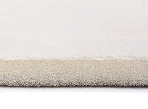 FABBRICA HOME Quick Dry Ultra-Soft Extra-Thick Memory Foam Runner (2 ft x 7.5 ft, Ivory)