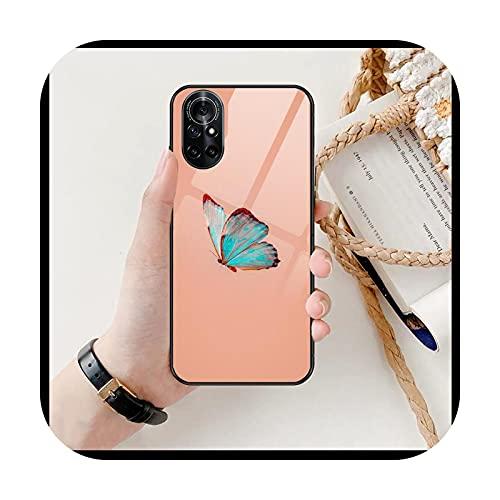 Linda mariposa claro teléfono caso para Huawei Honor 20 10 9 8A 7 5T X Pro Lite 5G negro Etui Coque Hoesjes cómic Fash-0-Honor 20lite
