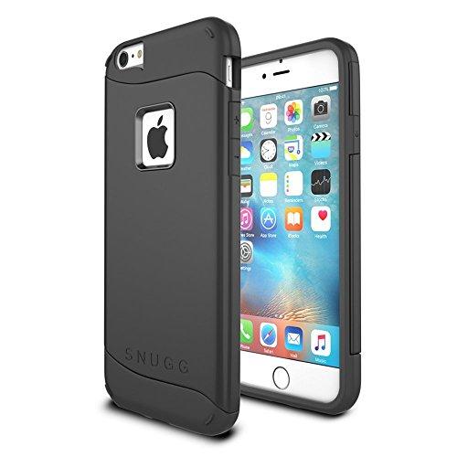 Snugg Cover iPhone 6 Plus / 6s Plus, Apple iPhone 6 Plus / 6s Plus Custodia Case [Scudo Sottile] Protettiva per Pelle – Nero, Infinity Series