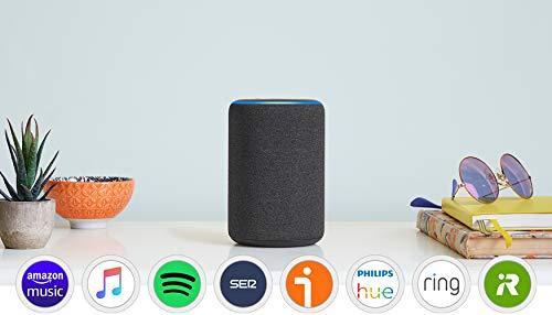 Amazon Echo (3.ª generación) reacondicionado certificado, altavoz inteligente con Alexa, tela de color antracita