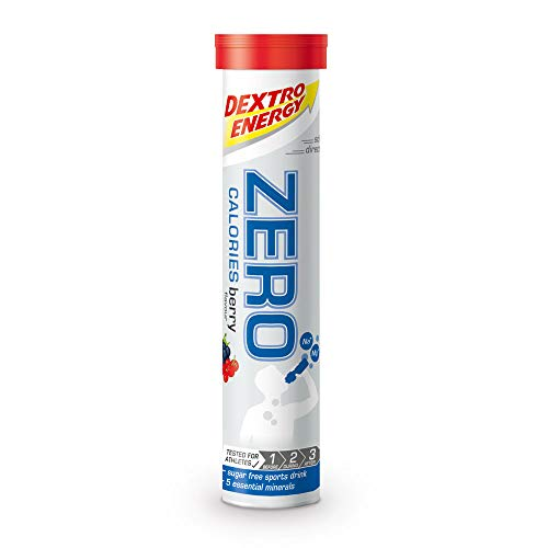 Elektrolyte drank Dextro Energy Zero Calories | 12x20 Elektrolyt tabletten | Berry Smaak | alternatief voor elektrolyt poeder | veganistisch & suikervrij