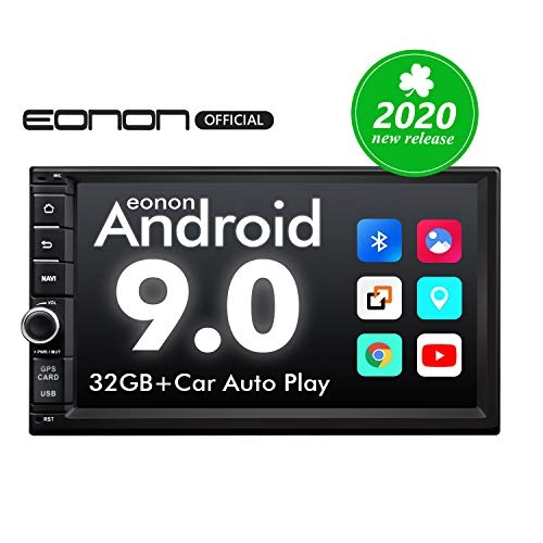 2020 Double Din Car Stereo,Android Radio with Bluetooth 5.0, Eonon 7 Inch Android 9.0 Car Radio Android Head Unit Car Stereo Support Android Auto//Fast Boot//Apple Carplay(NO DVD/CD)-GA2176