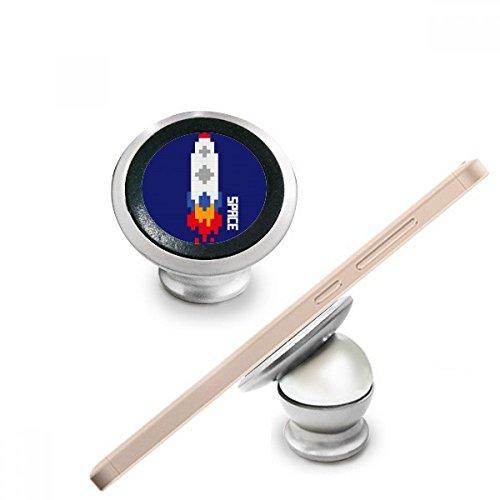 DIYthinker Space Ship Rakete Feuer Universum Pixel Magnetic-Telefon-Einfassung Auto-Armaturenbrett-Halter für Handy 360 Grad Drehung Geschenk