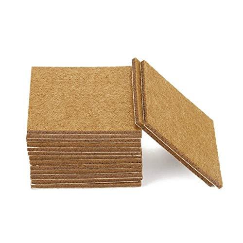 KEXQKN Proteja Sus Pisos de Madera 100 Piezas de Muebles de ratón láminas de Fieltro Auto-Adhesivo de Piso de Madera Protectores 7cmx7cm para pies de Muebles antiarañazos