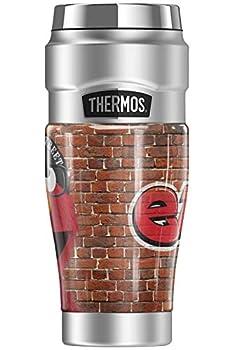 Sesame Street Urban Elmo Graffiti THERMOS STAINLESS KING Stainless Steel Travel Tumbler Vacuum insulated & Double Wall 16oz