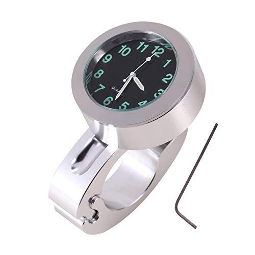 Reloj de moto manillar, reloj aluminio para moto custom para manillar 7/8' a 1'