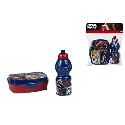ALMACENESADAN 2624; Pack Vuelta al Cole Star Wars; Compuesto por Sandwichera 16,5x11,5x5,5 cm y...