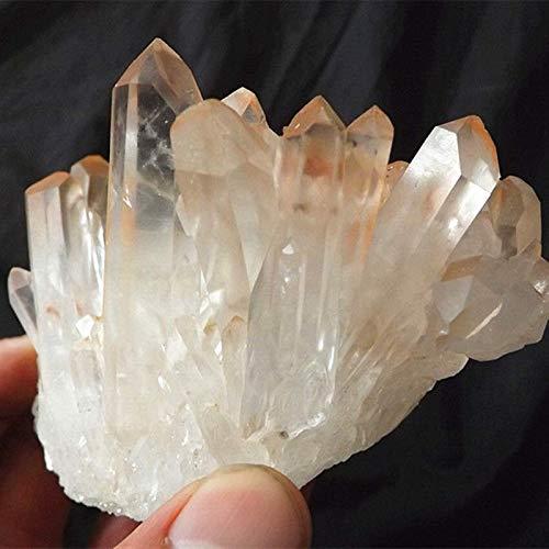DANHUI Regalo Familiar 350G Punto de racimo de Cristal de Cuarzo Crudo Natural Hermoso espécimen Mineral drusa de Piedras Preciosas racimo de Muestra áspera decoración fengshui