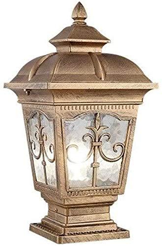 N / A Luz electrónico jardín Exterior, Columna Decorativa lámpara de Pared de la Cerca Chalet astillero Europeo Retro protección Impermeable a la luz de la iluminación del Paisaje jamba de la i.