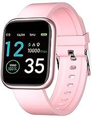 D-Rings Smartwatch Touch-kleurendisplay, smart polsband sport smart bracelet gezondheid fitness waterdicht smartwatch met bloeddrukmeting sport heren dames fitness sporthorloge stappenteller (A2)
