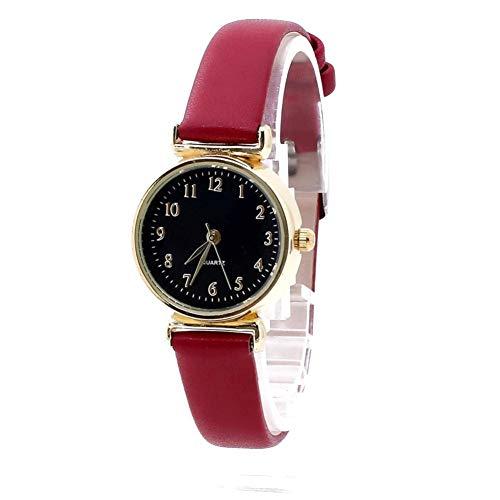 FDIJM Reloj De Moda para Mujer Reloj De Moda para Hombre Cristal Cuero Correa Piel Amantes Relojes De Pulsera De Analógico