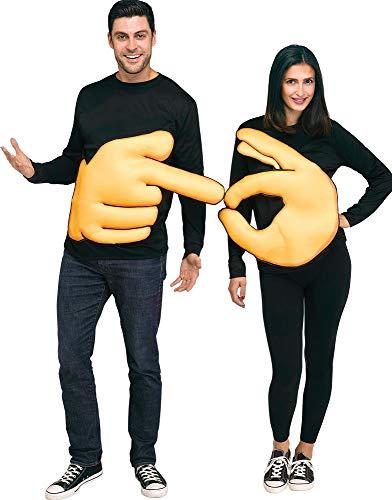 Fun World Men's OK & Pointer (Set), Yellow, STD. Up to 6' / 200 lbs