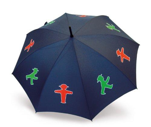 AMPELMANN Schutzmann - Stock-Regenschirm - Marineblau Ø 100 cm, Stock 88 cm