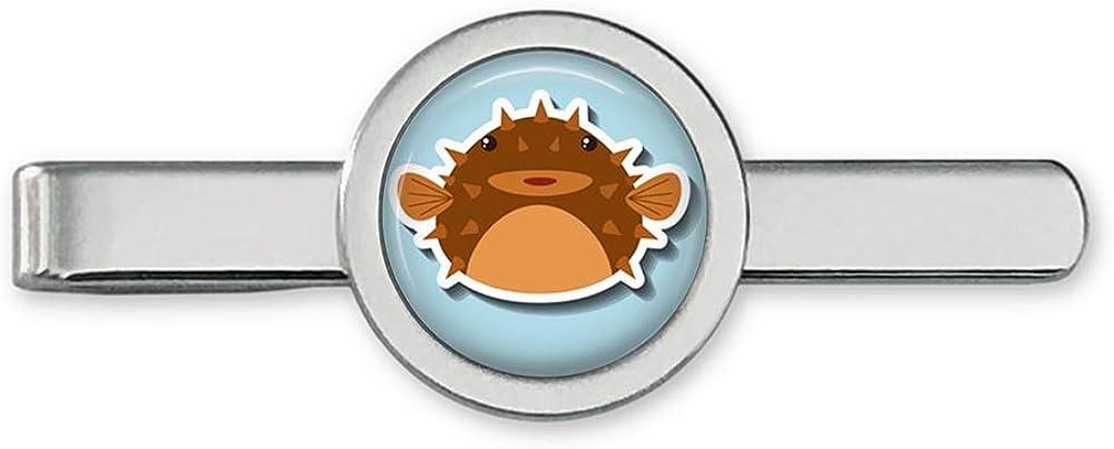 Oakmont Free shipping New Cufflinks Pufferfish Nashville-Davidson Mall Tie Clip Blowfish Bar