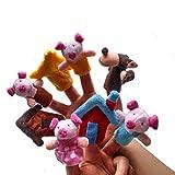 Ogquaton Marionnette à doigt animal de qualité supérieure 8pcs, 3 petits jouets en peluche de marionnette à doigt histoire de cochon