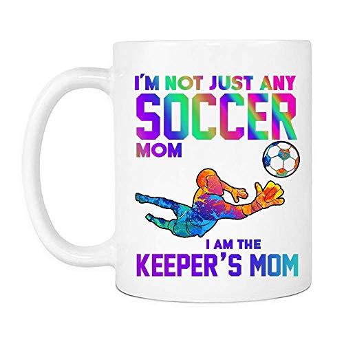 NA I 'M No Solo mamá de fútbol I' M The Keeper 'S Mom Mug, Tazas de café de cerámica del día de la Madre de Las Mujeres Que Dicen Blanco,