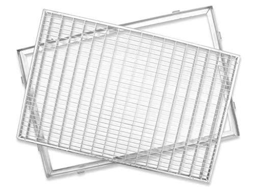 ACO Schuhabstreifer Gitterrost mit Zarge MW 30/10 Eingangsrost Normrost Abstreifer Rost, Größe Gitterroste :100 x 40 cm