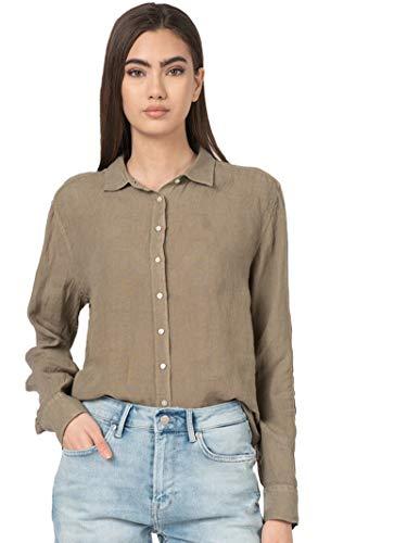 Pepe Jeans Hemd Leinen 'Bella' PL303662732, Grün Small