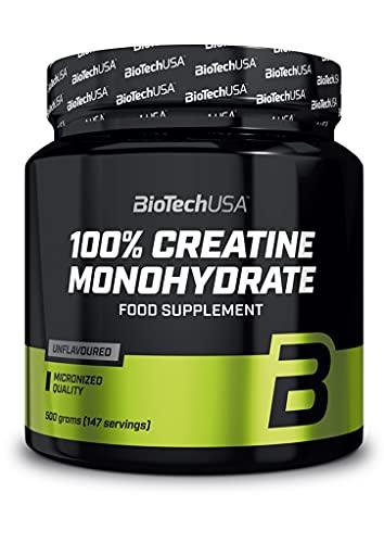 2 x Biotech USA 100{44ebe51a0af9c6c616c8abc76e1886a905f64623926a37077fa6603094e6b2fb} Creatine Monohydrate, 500g Dose (2er Pack)