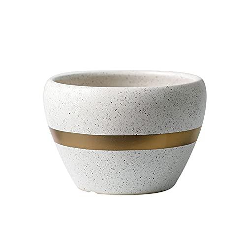 Macetero grande de color blanco para salón, mesa de café, oficina, comedor, decoración de flores, maceta a rayas, 6 opciones para decoración del hogar (tamaño: A)