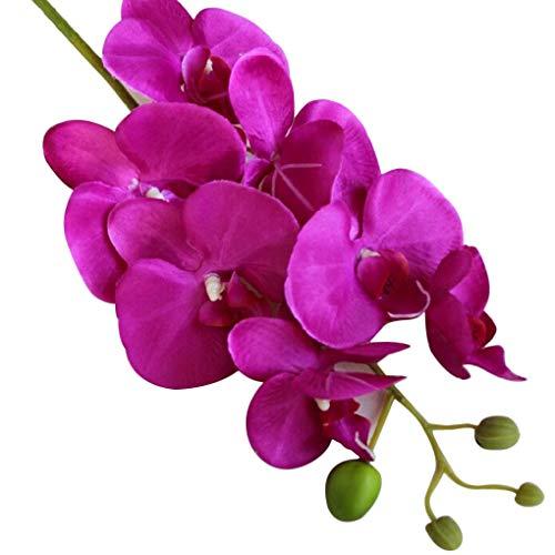 Demino Seda Artificial orquídea Phalaenopsis Flor del Tallo del Ramo de la Fiesta en casa decoración de jardín púrpura