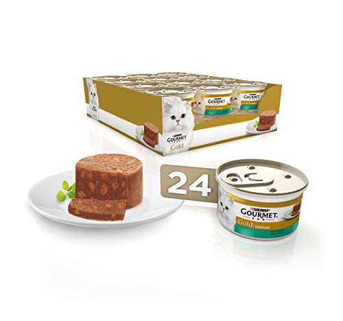 Purina Gourmet Gold Tarrine comida para gatos con Conejo 24 x 85 g