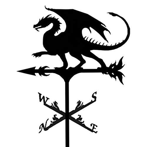 Nobranded Wetterfahne Drachen, 20-Zoll Wetterfahne mit Tier Ornament, Garten Stake Wetterfahne Professionelle Messung Werkzeug Garten Hof Einfach Verwenden
