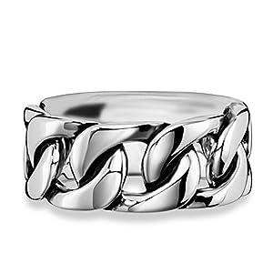 caï men Herren Ring Royal Punk 925 Sterling Silber rhodiniert schwarz coloriert