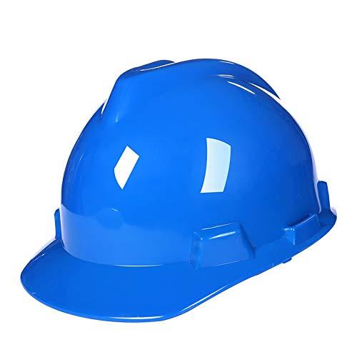 CXQBYNN Schutzhelme Arbeitshelm, Kopfschutz Für Männer Und Frauen Auf Der Baustelle, Helm Mit Kinn, Mehrfarbig Optional (Color : Blue)
