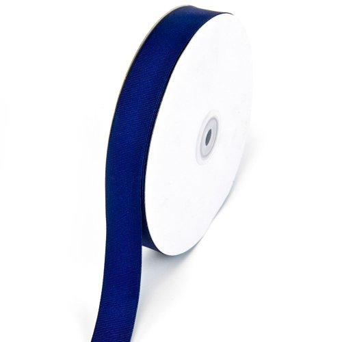 Creative Ideas 7/8-Inch Solid Grosgrain Ribbon, 50-Yard, Navy Blue