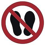 Prohibido Entrar en la Superficie de Acuerdo con la Norma ISO 7010, ASR A1.3, Rojo