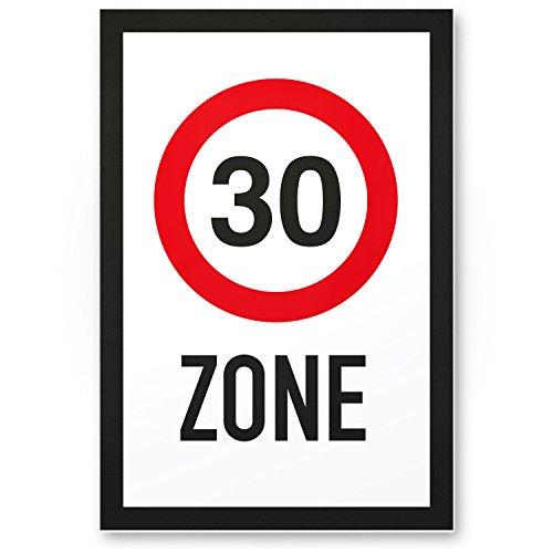 DankeDir! 30 Zone - Kunststoff Schild Geschenk 30. Geburtstag Geschenkidee Geburtstagsgeschenk Dreißigsten Geburtstagsdeko Partydeko Party Zubehör Geburtstagskarte