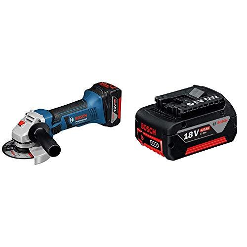 Bosch Professional 060193A30B Amoladora angular a batería 18 W, 18 V, Negro, Azul,...