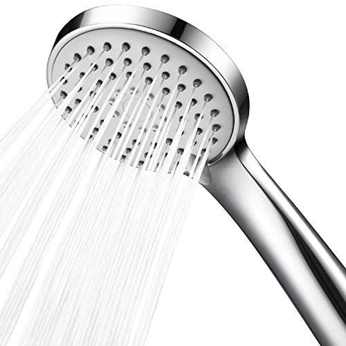 m·kvfa Shower Head,Low Water Pressure Boosting Handheld Shower Head High Pressure Water Saving Bathroom Showerhead for Low Flow Showers