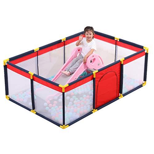 YF- Parcs Baby Safety Play Yard - Barrière Anti-Chute Portable pour bébé, barrière de Jeu pour Tout-Petits, Centre d'activité pour la sécurité des Enfants (190x128x65cm)