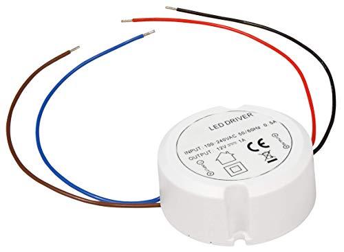 McShine - LED Trafo | elektronisch, 0,5-12W, 230V auf 12V, Ø55x23mm, rund | LED-Treiber | Netzteil | Driver