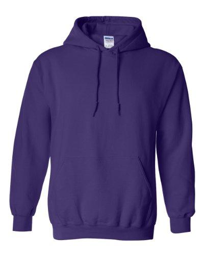 Gildan Men's Heavy Blend Drawcord Hooded Sweatshirt, Medium, Purple