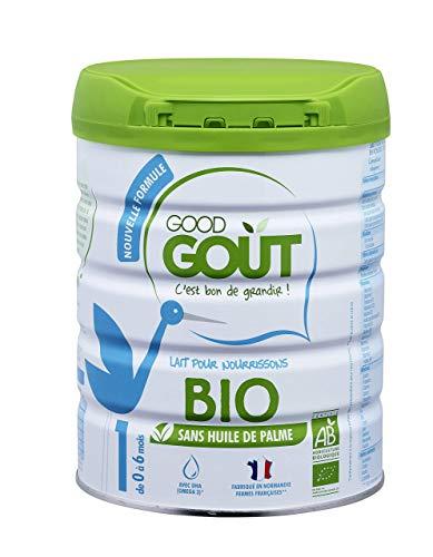 Good Goût - BIO - Lait Infantile en poudre 1er Âge Nouvelle formule avec ARA 800 g de 0 à 6 Mois