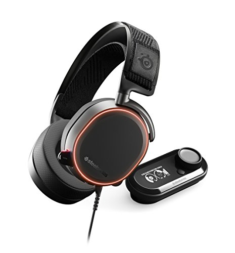 SteelSeries Arctis Pro + GameDAC Wired Gaming Headset - Certified Hi-Res Audio - Dedicated DAC and Amp - for PS4 and PC - Black