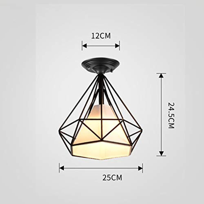 E27 Eisen Mini Deckenleuchten modern, Dimmbar Oberflchenmontage Deckenlampe Inkl. leuchtmittel Kreativ Dekoration Deckenlampe-Trichromes DimmenB D-25cm T-24.5cm