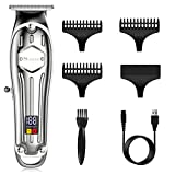 SURKER Mens Hair Trimmer Clippers Beard Trimmer Cordless sideburn Trimmer with T-Blade Hair Cutting Kit Rechargeable