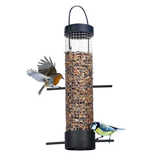 Oramics Vogelfutterstation Vogelfutterspender – ca. 28 x Ø 6,2 cm – Futterspender für Vögel – Vogel Futtersäule für Garten, Balkon und Terrasse