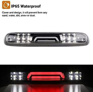 High Mount Waterproof 3D Dual Row LED Bar Third Light Brake Light for 07-13 Chevy Silverado/GMC Sierra (Clear Lens)