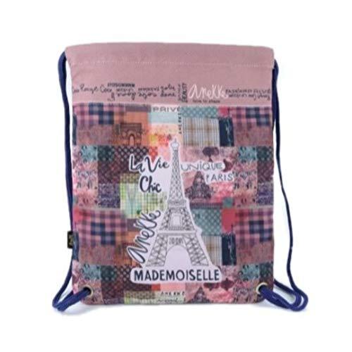Anekke Saco Mochila Textil Paris Letras