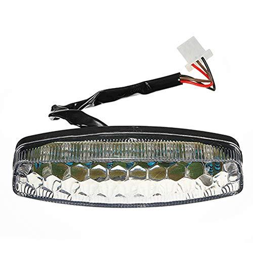 CLIUS - Fanale Posteriore per Moto a LED, Accessori Luminosi, Freno a 3 Fili, Facile da installare, Avvertimento di Sicurezza, Lampada Posteriore, Impermeabile, Durevole, 12 V, Fai da Te